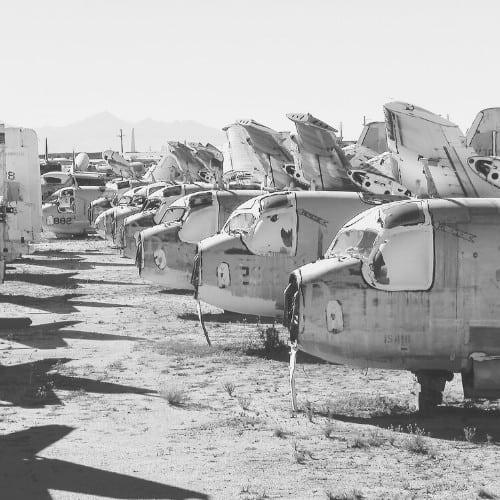 Aircraft in Desert